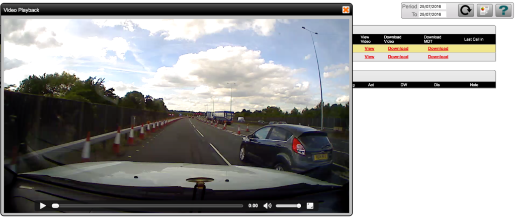 Fleet Dash Cams - Video File