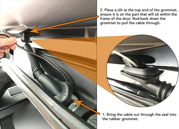 Rear Cable Grommet